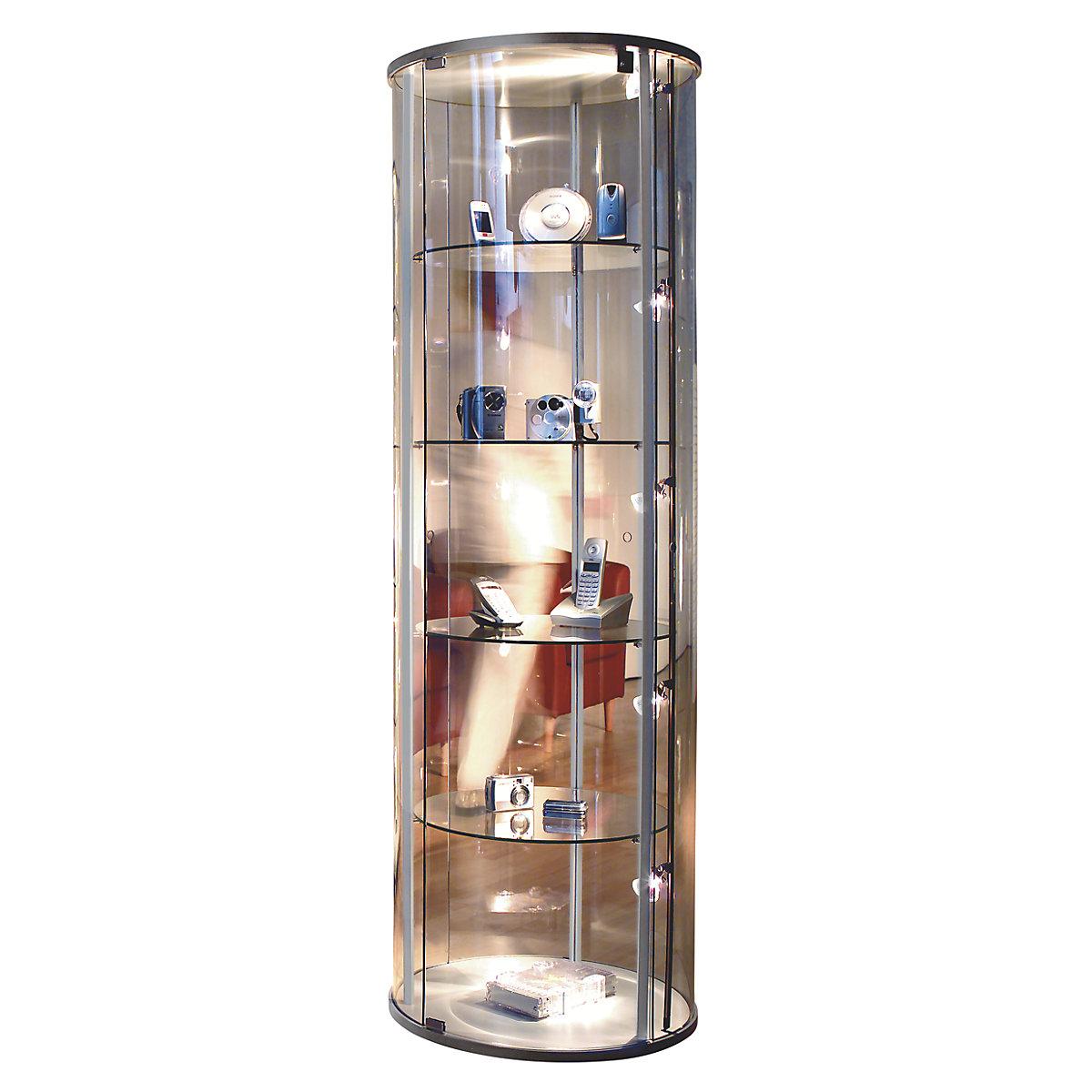 Glass display cabinet 20 convex hinged door   KAISER+KRAFT ...