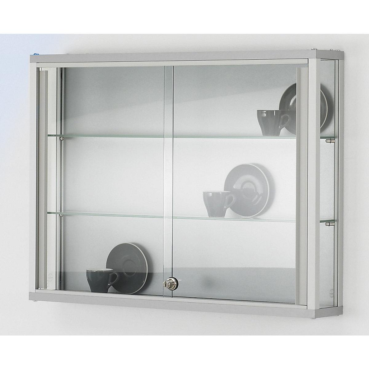 Link Wall Mounted Glass Cabinet 2 Shelves Sliding Doors Kaiser Kraft International