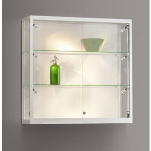 Wall mounted glass cabinet, WxDxH 1000 x 300 x 984 mm