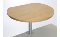 Table pedestal with clamp base