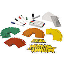 magnetic films, markers, labels, holders, wipers
