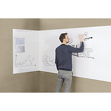 Extendable whiteboard, frameless