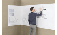 Whiteboard, frameless