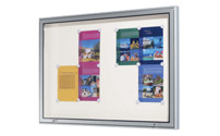 Display case, aluminium frame, for indoor and outdoor use
