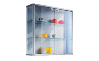 Designer wall mounted glass cabinet