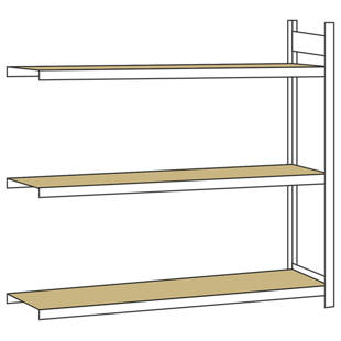 weitspannregal mit spanplatte h he 2000 mm m1149987. Black Bedroom Furniture Sets. Home Design Ideas