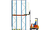 Scaffale accessibile con transpallet