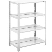 Bolt-together archive shelving, light grey RAL 7035
