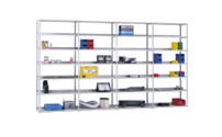 Light duty bolt-together storage shelving, zinc plated