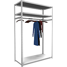 Bolt-together cloakroom shelving system