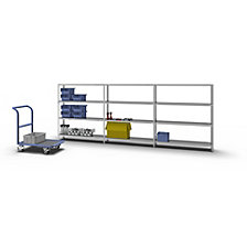 Bolt-together shelf unit, light duty, zinc plated