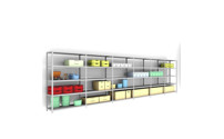 Complete bolt-together shelf unit, light duty, zinc plated