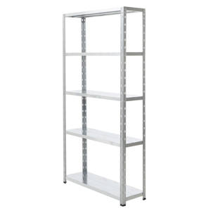 Boltless shelving unit, completely zinc plated