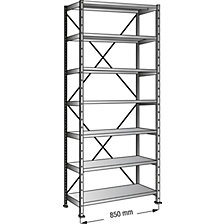 depth 500 mm, standard shelf unit