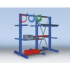 Cantilever racking upright, two sided