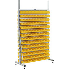 with 28 double sided rails, with 224 bins