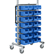 Aluminium mobile rack, narrow