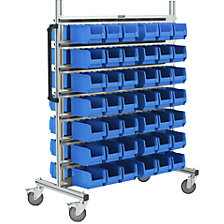 Aluminium mobile rack, wide
