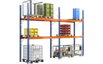 Complete pallet shelf unit