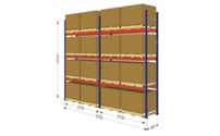 Pallet racking 2 bay kit