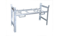 Stacking frame for drum shelving