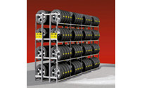 Tyre shelf unit, zinc plated