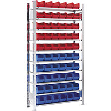 60 bins, 10 shelves, extension shelf unit