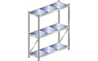 Wide span shelf unit, shelf load 500 kg