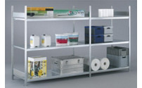Wide span shelf unit, with steel shelf, height 2500 mm