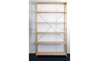 Boltless solid wood shelf unit, planed and sanded