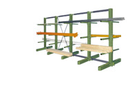 Complete cantilever racking unit, light duty