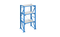 Heavy duty pull-out shelving unit