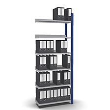 extension shelf unit, WxD 750 x 300 mm, zinc plated