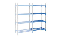 Boltless mesh shelf unit