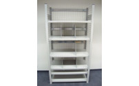 Boltless shelving unit, lightweight model, fully assembled