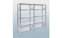 Boltless shelving unit, single row