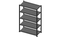 Heavy-duty boltless shelving