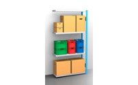 Standard boltless shelving unit