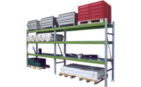 Heavy duty shelf system