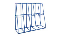 Extendable vertical storage rack