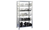 Wire mesh basket shelving unit, zinc plated