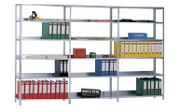 Light duty bolt-together storage shelving, light grey RAL 7035