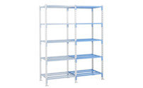 Tubular boltless shelving unit