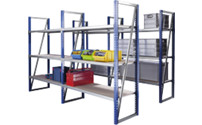 Wide span boltless shelf unit, shelf width 1500 mm