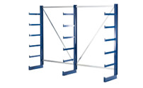 Cantilever racking unit with identical cantilever arm length