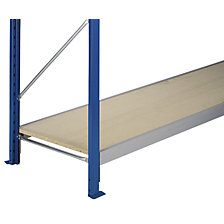 Wide span shelf level with 19 mm chipboard inserts