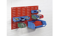 Wall rack made of sheet steel