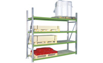 Wide span shelf unit, with chipboard shelves, height 2000 mm
