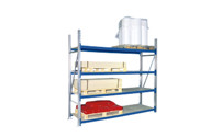 Wide span shelf unit, with chipboard shelves, height 2500 mm