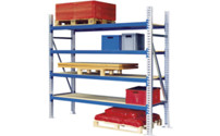 Wide span shelving unit